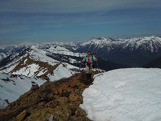 Suzanne on the summit of Highchair