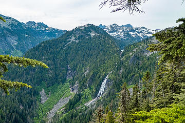 St Agnes Ridge and Angeline Falls from viewpoint
