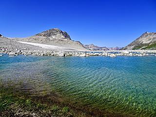 Moraine lakes at Duane-Nichols Pass (Griswold Pass)