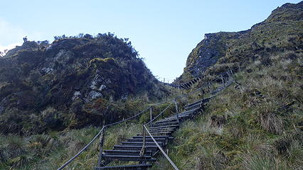 Stairways like this were build in various places around the mine