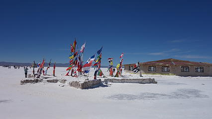 World flags at the salt hotel