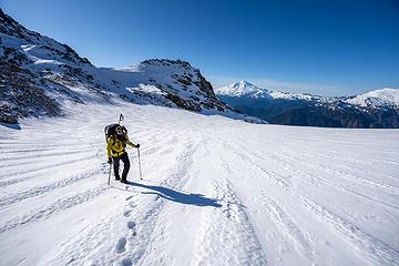 crossing the glacier