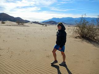 approaching Ibex Dunes