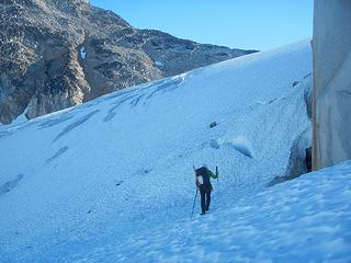 approaching the southeast ridge