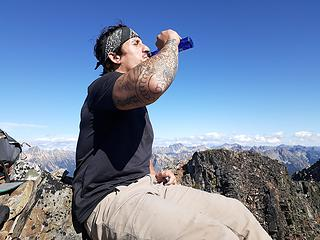 when in Rome, or on top of a sweet ass peak!!