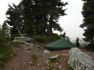 tent site at the pass.