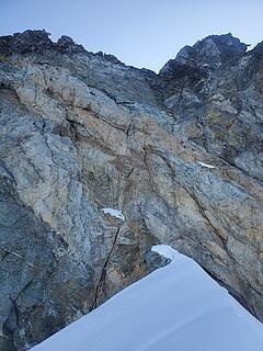 rock scramble/climb up