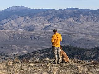 Barry & Cooper checking out Methow Valley