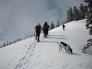 heading up