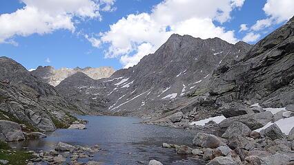 Lake 10850, and NE face of Harrower