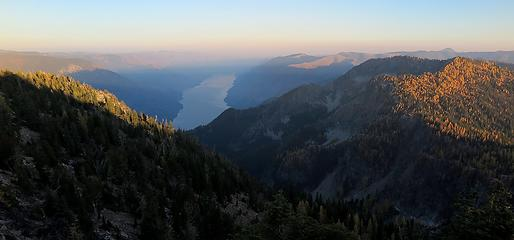 Evening above Lake Chelan