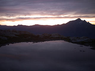 Just before dawn from Tarn 1