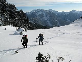 Crusty area & Monte Cristo Peaks