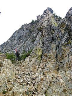 Bypassing obstacles em route to false summit.