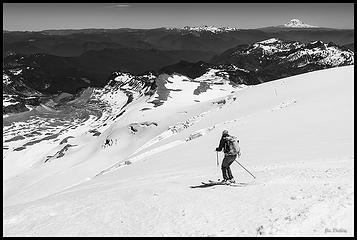 Skiing on Rainier