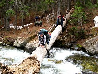Ingalls Creek Log Crossing