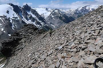 the goats constructed a trail for us across the talus here