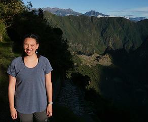 IT 4.1 Cassie at Sun Gate (Machu Picchu below)