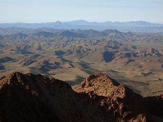 View South. Picacho in the distance.