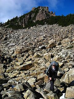 The boulder field that made Dicey cry