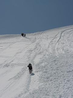 Final slope to the top of the Railroad Grade
