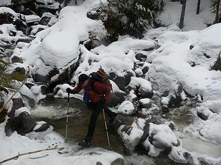 Bob crossing Dick Creek