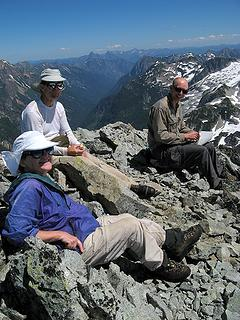 Billie, Mike & Paul on Whatcom summit