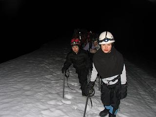 Ascending the Railroad Grade by headlamp