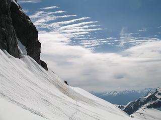 Interesting cloud patterns above the Terror Glacier.