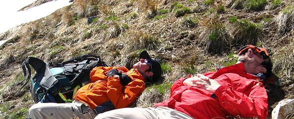Dicey & Matt napping