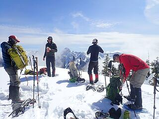 Hanging out on the summit