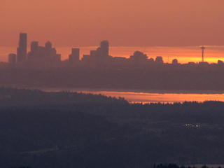 Seattle's rosy glow