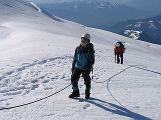 On the upper Easton Glacier