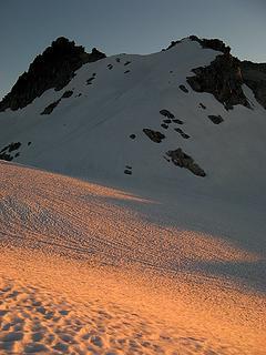 Alpenglow below TT summit