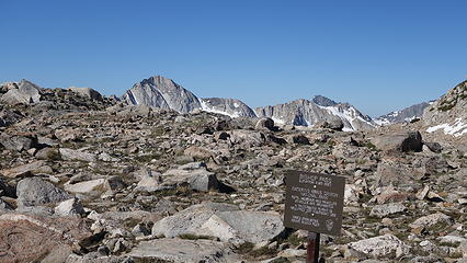Arriving at Bishop Pass