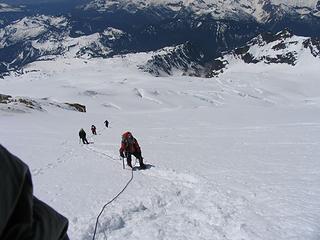 Ascending the upper slopes (10,000 ft)