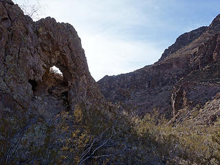 arch at Oak Cr Canyon confluence
