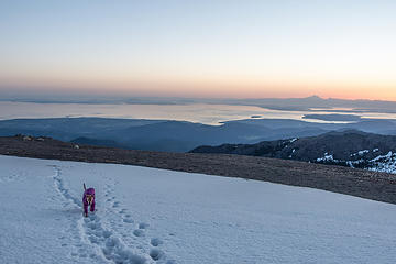 going up to baldy for sunrise