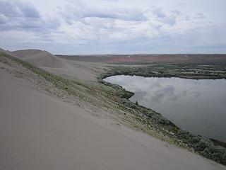 dunes over lake