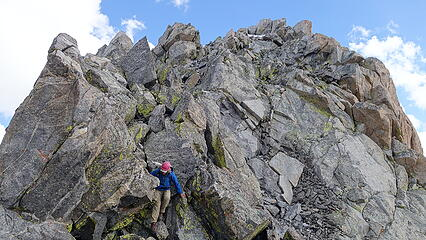 Downclimbing Henderson