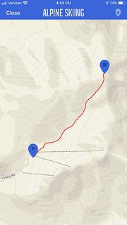 My Route up Mount Gordon Lyon