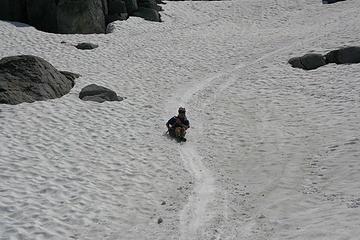 Mag glissades down a well worn path