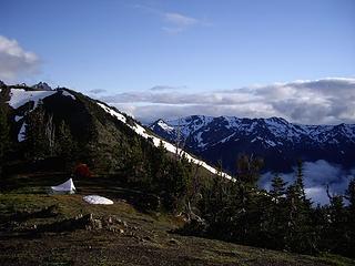 Marmot Pass - from shoulder of Buckhorn & camp