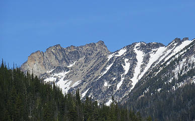 Bigelow and East Bigelow above Upper Eagle Lake.