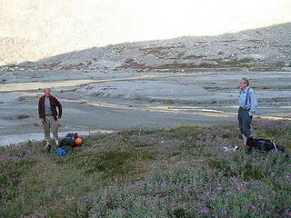 Don Duncan and Roy McMurtrey at Ouzel Lake.