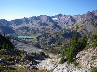 descending towards Stephen Lake