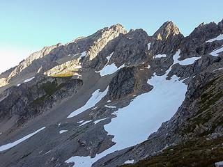 south face formidable, cleaver in left center separating basins