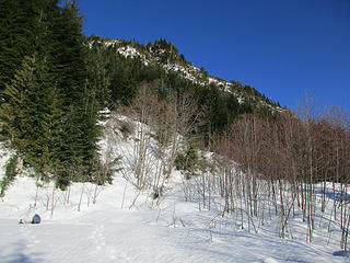 Looking up the slopes of South Bessemer from turnaround point
