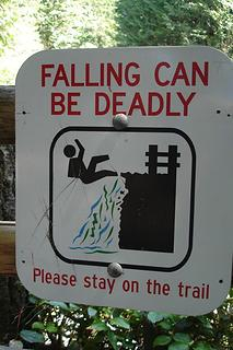Sign at Wallace Falls