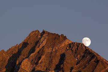 Moonrise over Dragon Peak, Rae Lake, Kings Canyon National Park